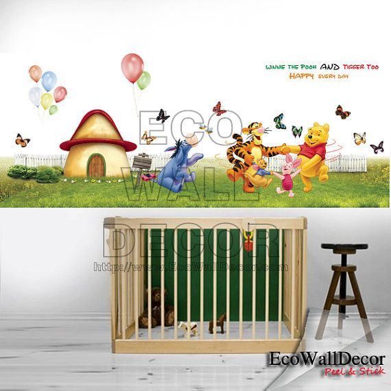 530 best winnie the pooh friends images on pinterest for Baby pooh and friends wall mural