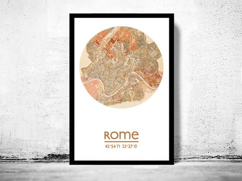 ROME - city poster - city map poster print sold by all city posters. Shop more products from all city posters on Storenvy, the home of independent small businesses all over the world.