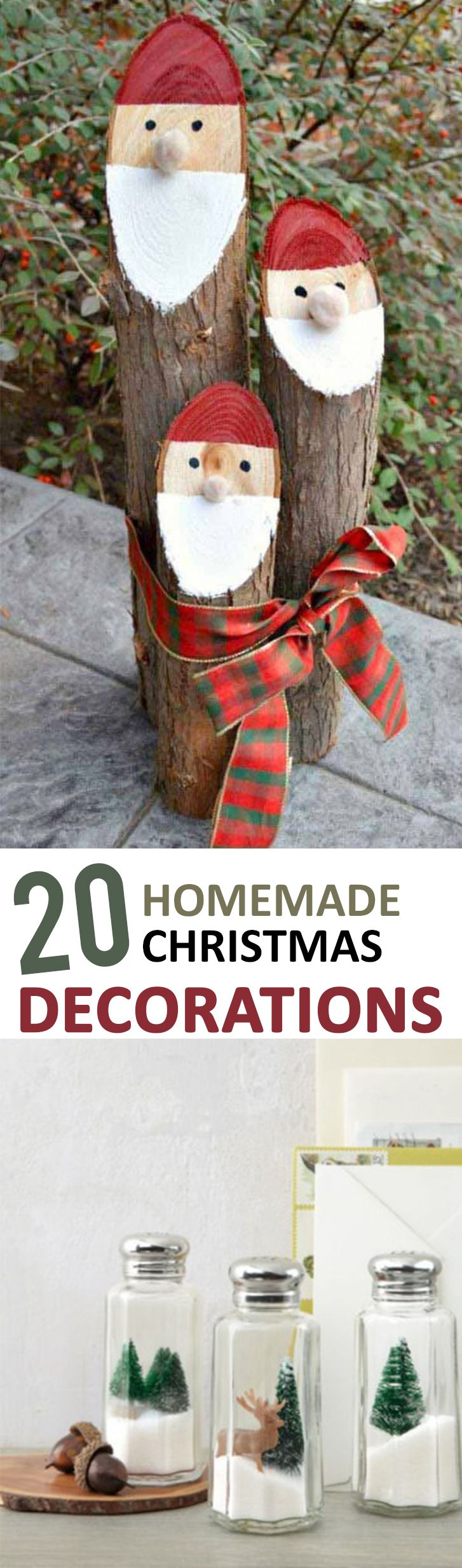 Pinterest Christmas Ideas And Crafts Part - 43: 20 Homemade Christmas Decorations