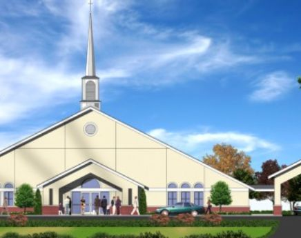 Greater New Life Baptist Church | Riverdale, GA | SP provided design for a façade make-up of an existing facility to improve the church's brand and curb appeal.