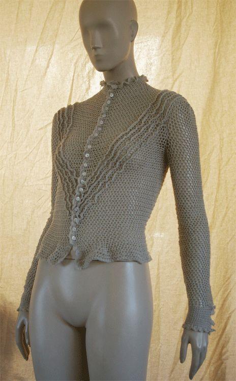 crochetmestres crochetmes3: Blusa gris perla (inspiración es la palabra)