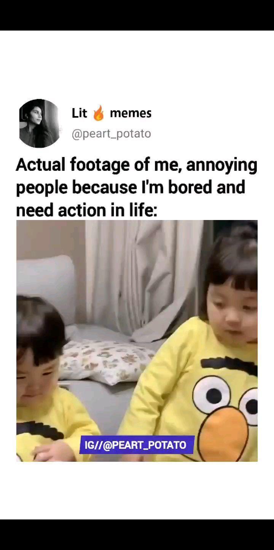 "Annoying Sister Memes : annoying, sister, memes, 185.2k, Likes,, 3,112, Comments, Memes, (@peart_potato), Instagram:, ""Tag, 😂❤️"", Sister,, Memes,, Annoying, People"