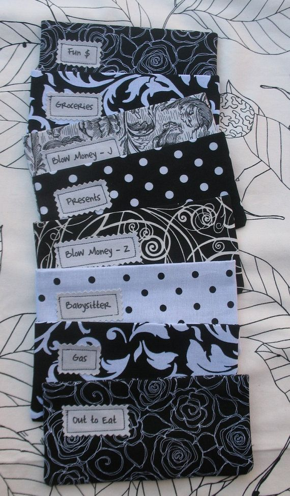 SIX Designer Fabric Envelopes with by savingmoneyinstyle on Etsy