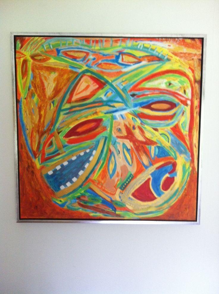 Facce in estate danese...  Acrylic 80 x 80 cm