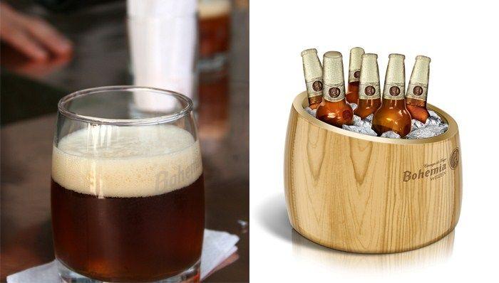 bohemia beer, love that glassware