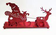 Teelichthalter Weihnachtsmann Schlitten rot trend Kerze Advent Weihnachten Xmas
