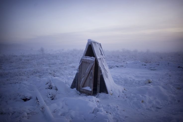 Welcome to Oymyakon, Russia. It's dark for 21 hours per day — and, during winter, temperatures average minus 58 degrees Fahrenheit.