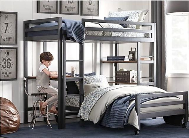 17 best interiors bunk beds for kids images on pinterest - Awesome boy bedroom ideas ...