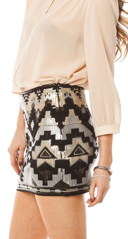 Tribal sequin mini
