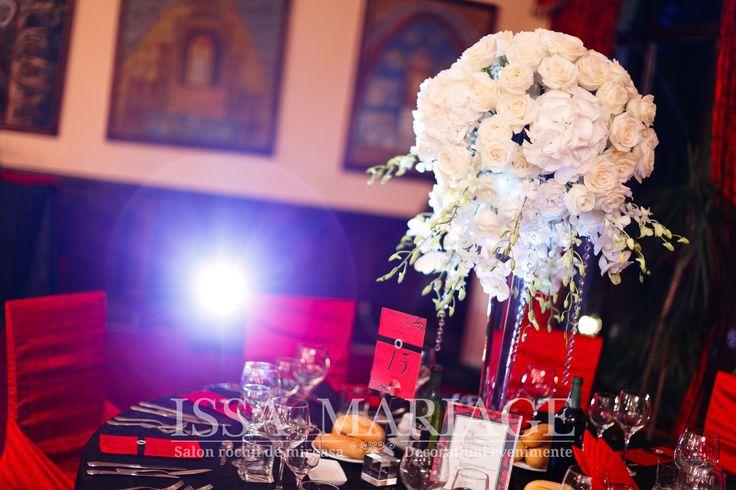 decoratiuni nunta rosu cu negru issamaraige