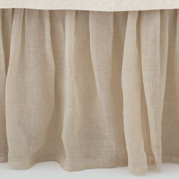 Savannah Linen Gauze Tea Stain Bed Skirt design by Pine Cone Hill ($210) ❤ liked on Polyvore featuring home, bed & bath, bedding, bed accessories, bed skirt, pine cone hill bedskirt, pine cone hill, pine cone hill bed skirt and dust skirt