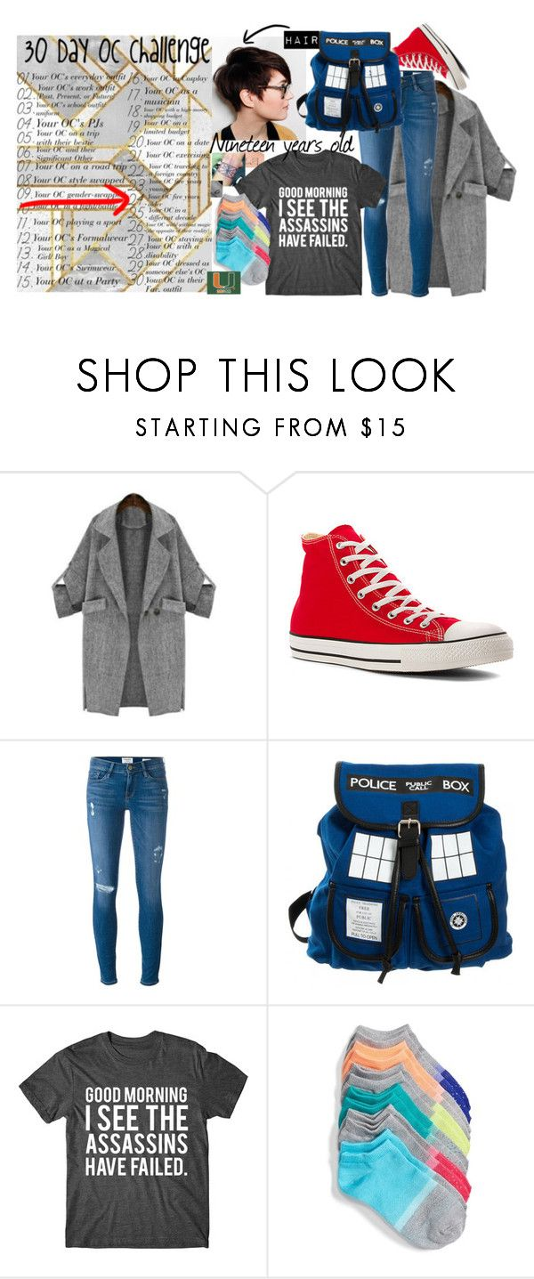 """""""30 Day OC challenge: Day twenty-four"""" by potato-cloud on Polyvore featuring Converse, Frame and Sof Sole"""