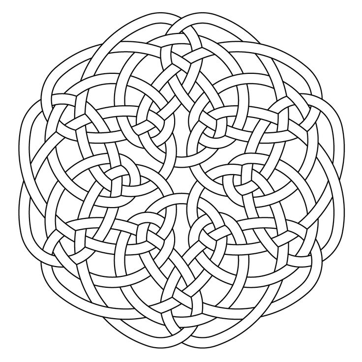 Celtic knot-work hexa by Peter Mulkers