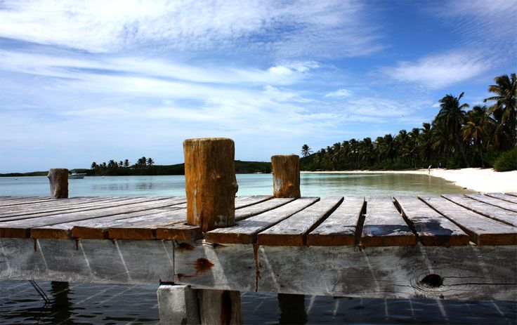 Foto: AK Stensland, brygge, bilde tatt på Contoy Island utenfor Mexico