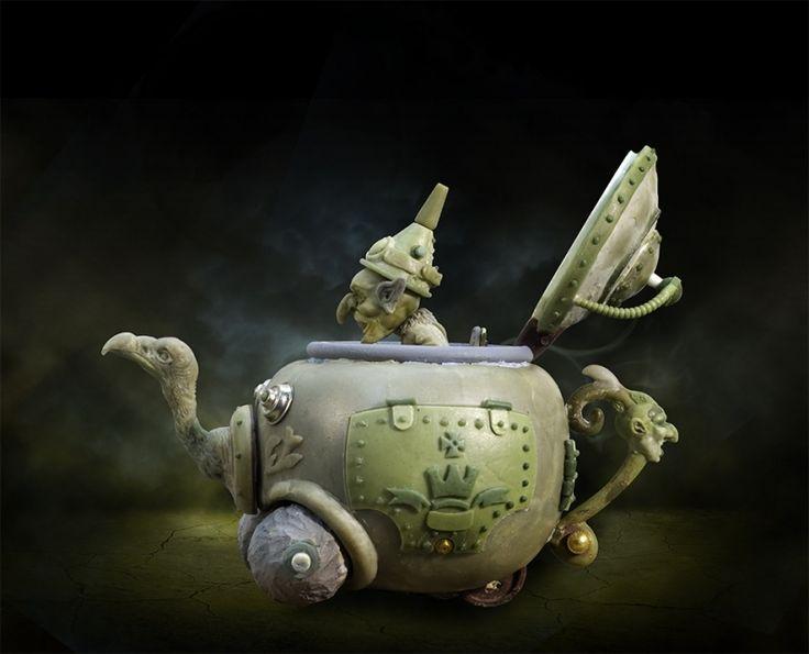 Goblin & the Steampunk Teapot