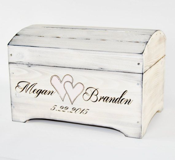Large Personalized Card Box in Shabby Chic by RoxyHeartVintage