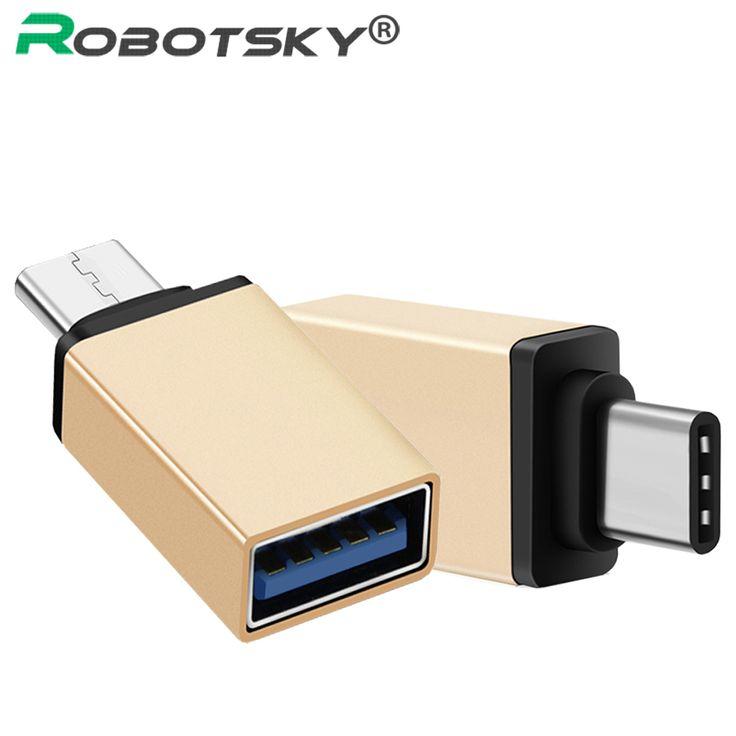Cute Robotsky USB Typ C zu USB Converter USB Typ C OTG Adapter f r Chromebook