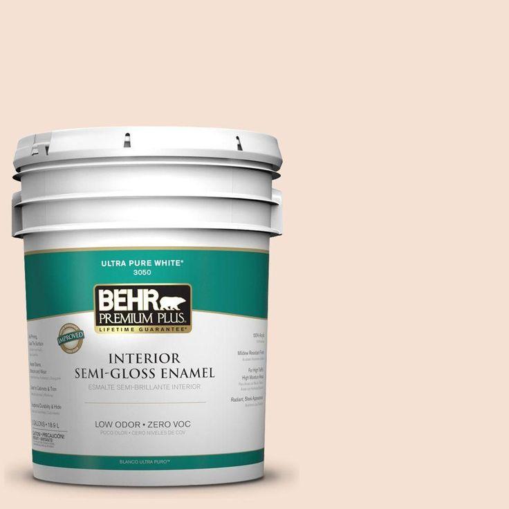 5-gal. #240E-1 Muffin Mix Zero VOC Semi-Gloss Enamel Interior Paint