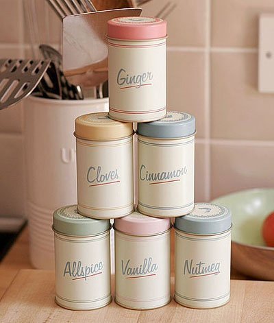 Spice tins by Pippin from Not on the high street, $23.90.  This is a repin but I hunted down the original link: http://www.potterybarnkids.com/products/camilla-nightstand/?pkey=cnew-to-sale