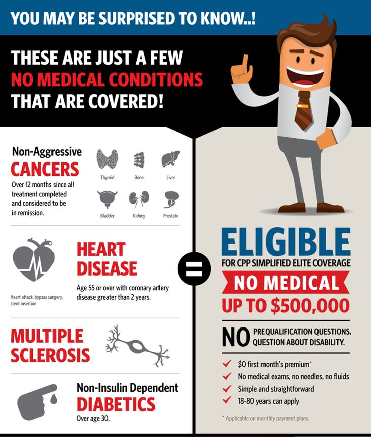 Many people believe that they can't get insurance because of health conditions they have. I might even have been the one to tell you that! But things have changed!  What is No Medical Life Insurance?  No Medical Life Insurance is insurance that is issued without having to do any medical tests or blood work. By simply ansering a few questions about your health, my colleagues and I may be able to get you up to $500,000 of life insurance coverage.  Whether you are looking for temporary or pe...