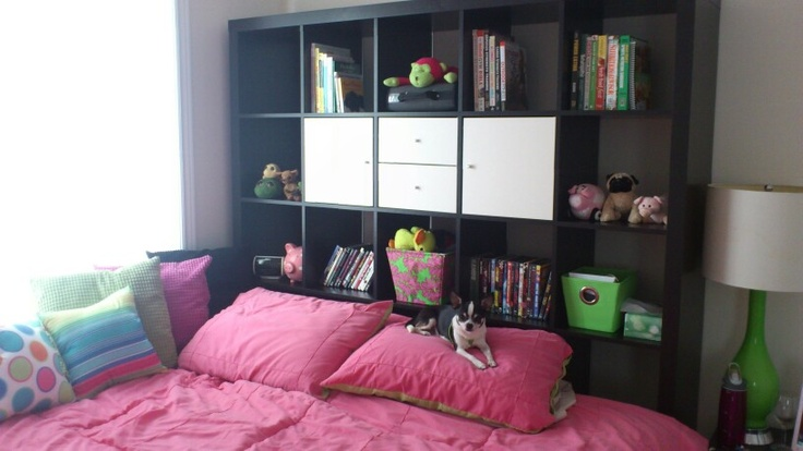 ikea expedit as a headboard idea pinterest ikea expedit bedrooms and bedroom storage