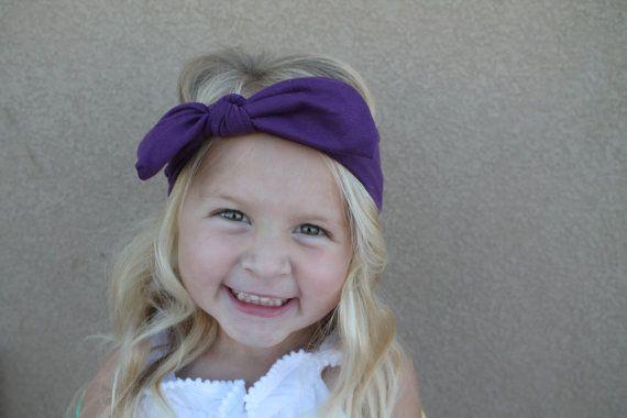 Cotton spandex headband girl hair band girl headband by SnugAWoo