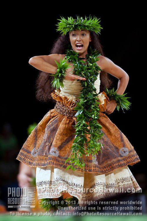 Merrie Monarch hula festival in Hilo, on the Big island of Hawaii