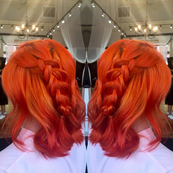 Schwarzkopf L-77 with an overlay of Joico intensities fiery coral.