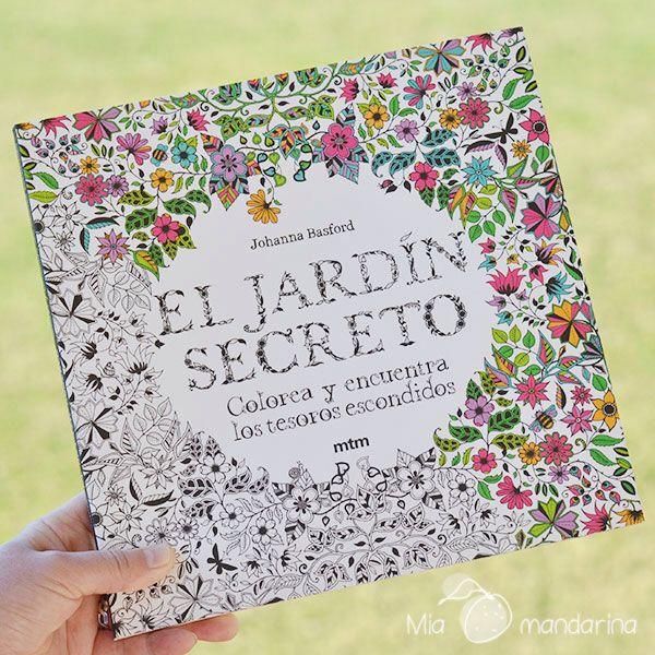 """Libro para colorear """"El Jardin secreto"""" de Johanna Basford. Encuéntralo en Mia mandarina"""