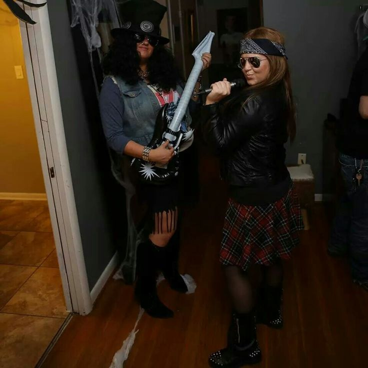 Slash and Axl Rose. Halloween 2014. #halloween #gunsandroses #costume