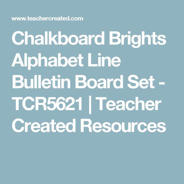 Chalkboard Brights Alphabet Line Bulletin Board Set - TCR5621 | Teacher Created Resources