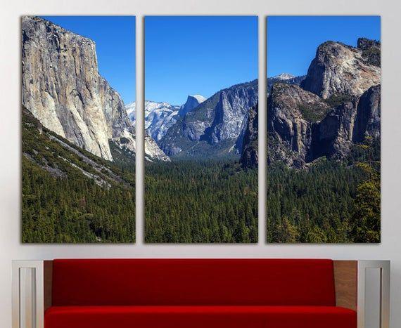 Yosemite Print National Park Print Yosemite Canvas National Etsy In 2020 Yosemite Print Forest Wall Art Mountain Wall Art