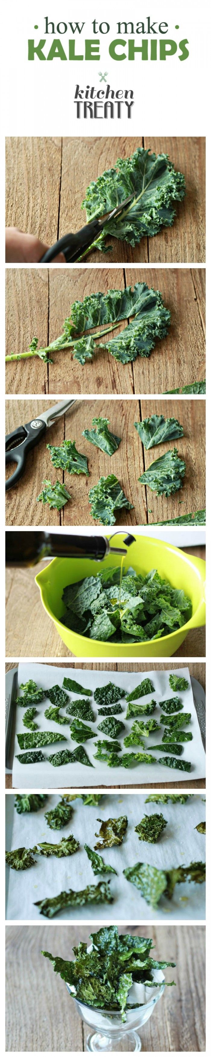 How to Make Kale Chips - Salty, crispy, addicting, and from garden to oven in 15 minutes ...