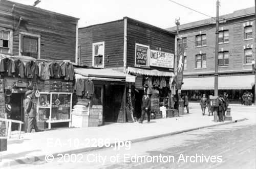 Jasper Ave and 97 St.  1912.  Image Courtesy of Vintage Edmonton   https://www.facebook.com/TheVintageEdmonton