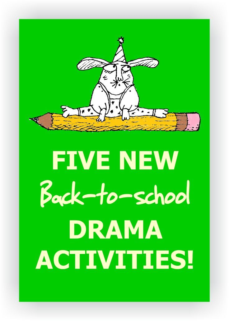 Want to try something new this year? Here are five creative ways to start your drama class off on a positive note! ~FREE~ https://www.dramanotebook.com/back-to-school-drama-lessons/