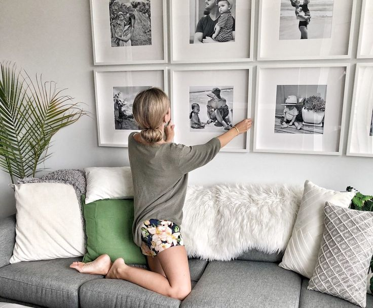How to create a grid-style gallery wall of family photos