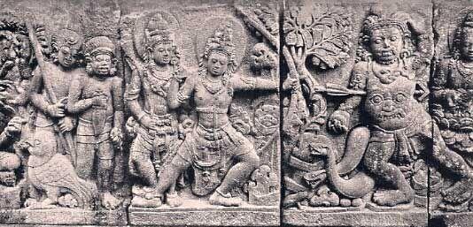 rama killing kabandha - http://hindudharmaforums.com/showthread.php?10794-Lara-Jonggrang-Temple-Complex-and-Motif-of-Ramayana-in-Prambanan-Java-Indonesia