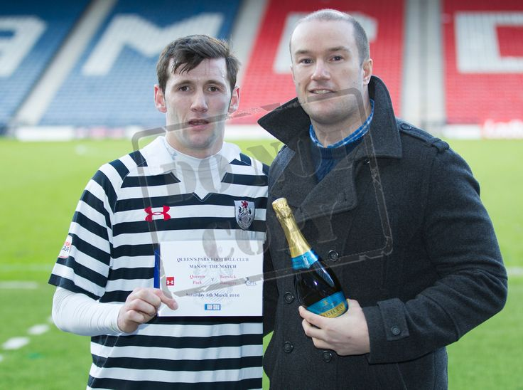 Queen's Park's John Carter Man of the Match after the SPFL League Two game between Queen's Park and Berwick Rangers.