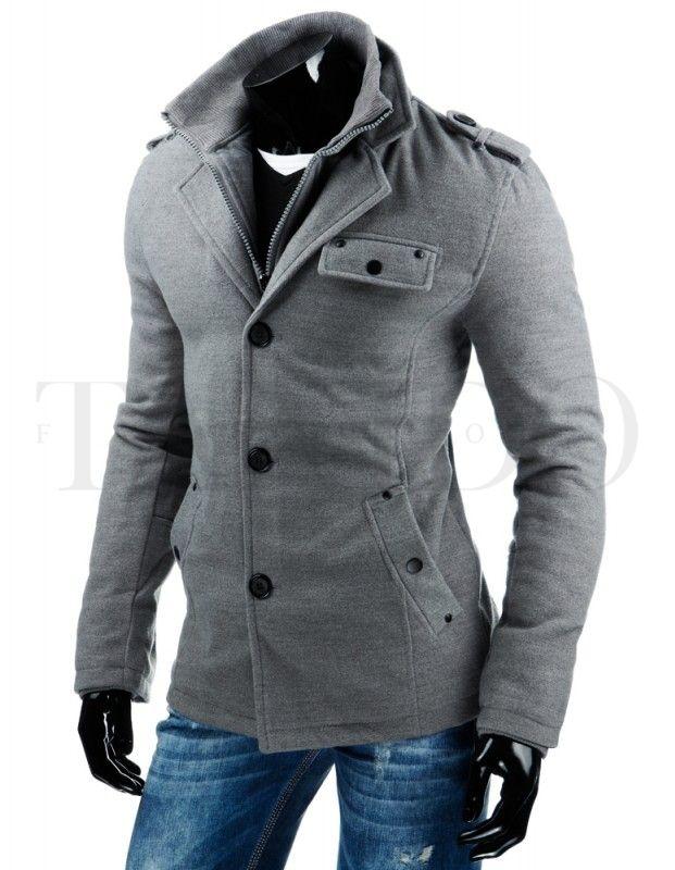 Pánský kabát - Alexander, světle šedý