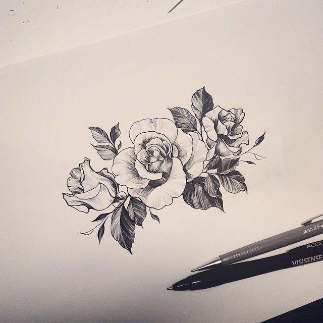 Desenho rosa tatuagem