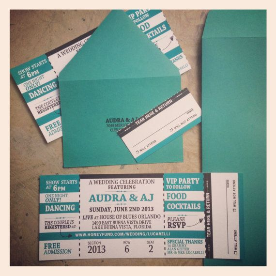Concert Ticket Invitations] We Just Created The Perfect Invitation ...
