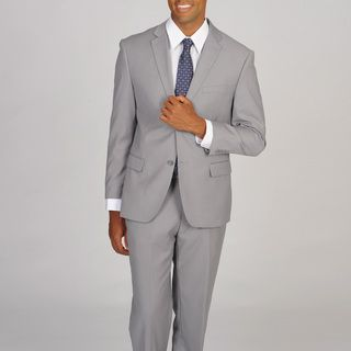 @Overstock.com - Caravelli Slim Men's Light Grey Suit - A trendy light grey, this gorgeous Caravelli Italy suit features a two-button closure and several convenient pockets. A traditional notch lapel and pleated trousers add class to this occasion or work suit.  http://www.overstock.com/Clothing-Shoes/Caravelli-Slim-Mens-Light-Grey-Suit/8232737/product.html?CID=214117 $102.99