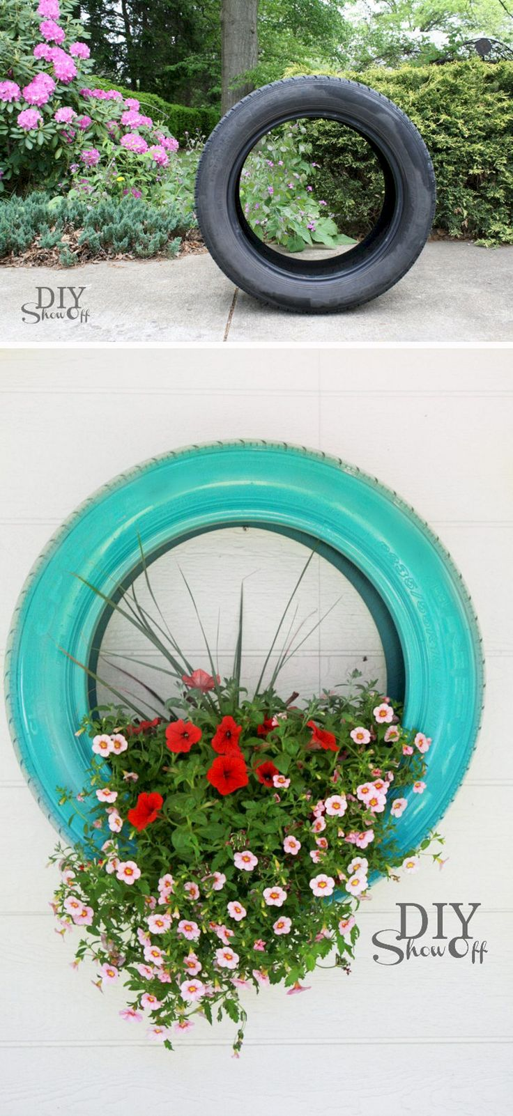 90 diy wonderful tire garden ponds on a budget inspirations - Garden Ideas Using Tyres