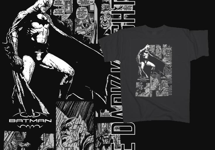 Batman - Comic strip http://www.toonshirts.com/products/superheroes/16-batman-comic-strip #tshirt #design #fancy #cartoon