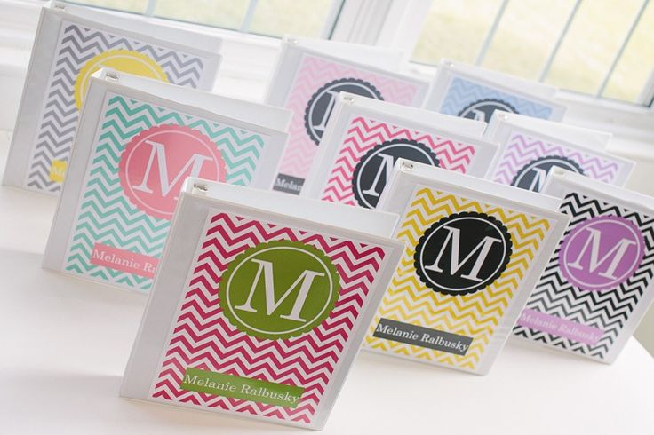Monogram binder covers from Schoolgirl Style  www.schoolgirlstyle.com