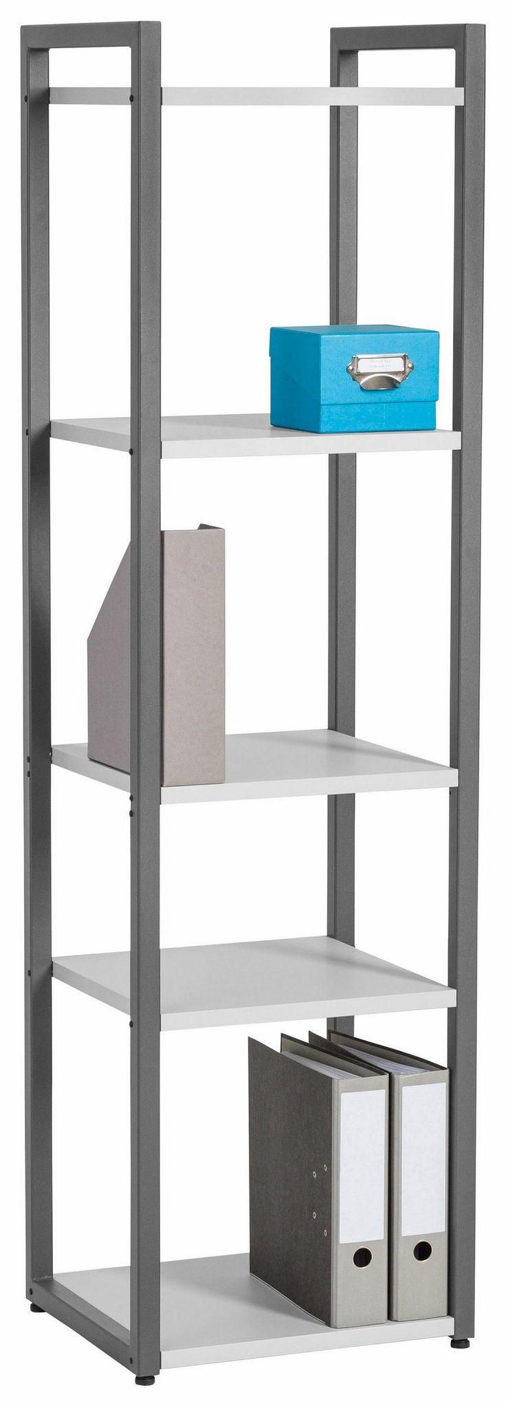 Maja Möbel Regal »Rocks«, Breite 46 cm für 189,99€. Variabel kombinierbar, Platzsparend, Maße (B/T/H): 46/40/167 cm, Regalkombination mit Metallrahmen bei OTTO