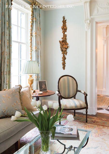 Design Crush: Patricia McLean Interiors. Blue Living RoomsLiving ...