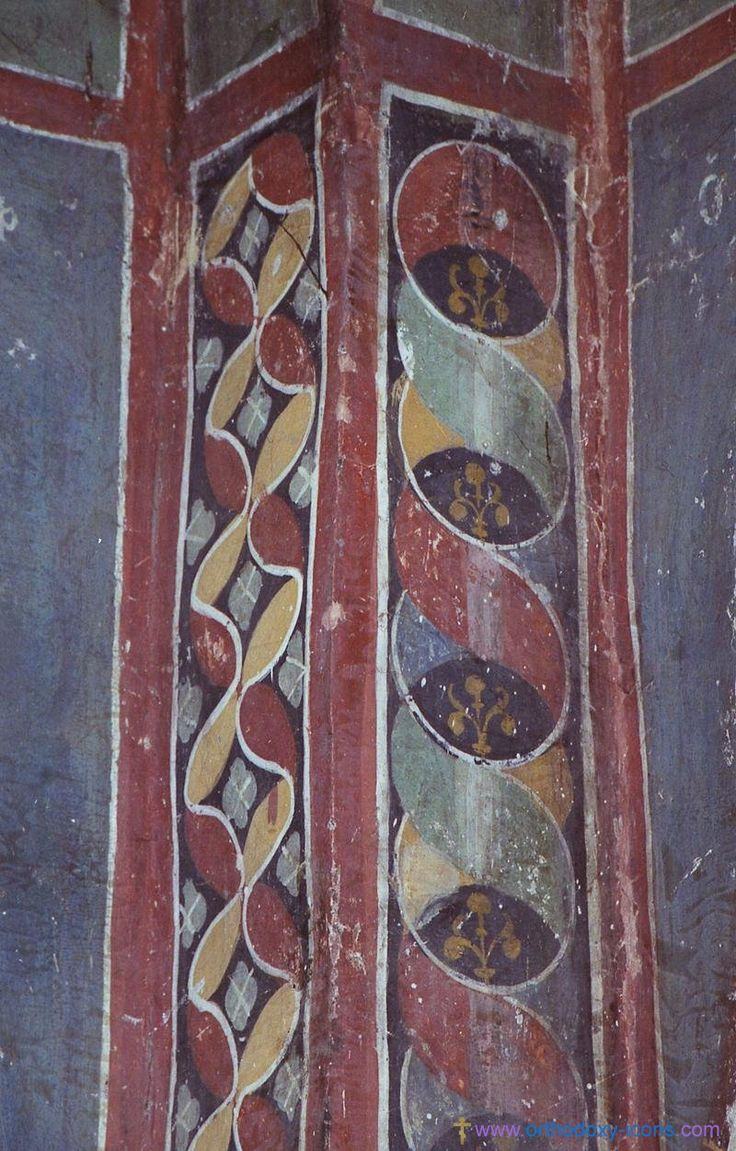 The frescoes of the church Perivlepty Ohrid, Macedonia (1295). Part XII