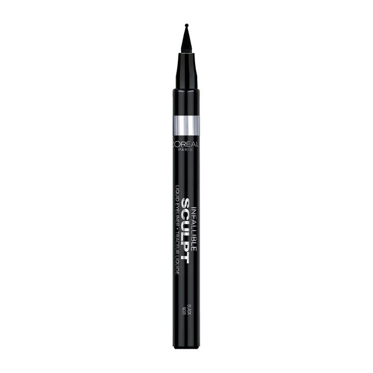 This Eyeliner is The Secret to a Perfect Cat Eye | The shortcut to a perfect cat eye is a standard eyeliner is L'Oréal Paris Infallible Sculpt Liquid Eyeliner because it has a ballpoint tip.