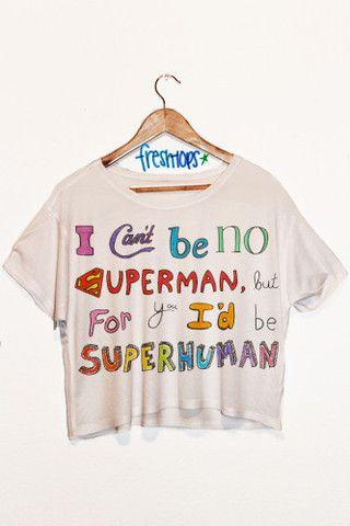 SuperHuman Short Sleeve Crop
